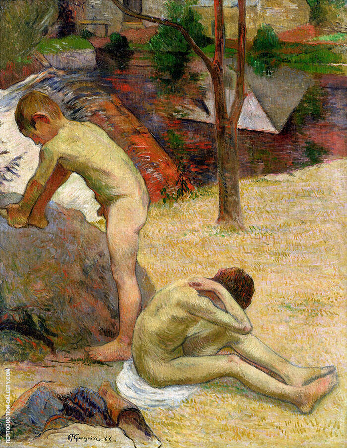 Breton Boys Bathing 1888 By Paul Gauguin