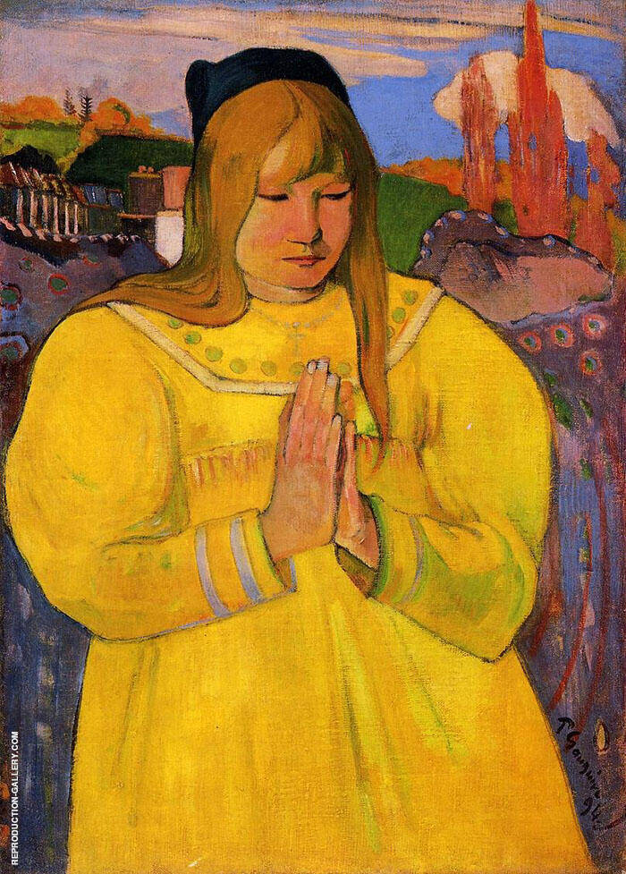 Breton Woman in Prayer 1894 By Paul Gauguin