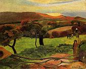 Fields by the Sea Le Pouldu 1889 By Paul Gauguin