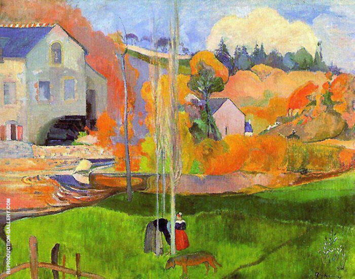 Breton Landscape 1894 By Paul Gauguin