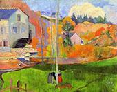 Breton Landscape 1894 By Paul Gauguin