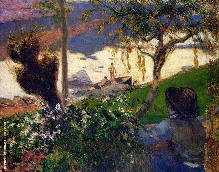 Breton Boy by the Aven River 1888 By Paul Gauguin