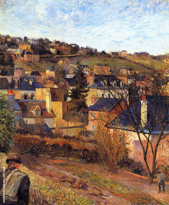 Blue Roofs Rouen 1884 By Paul Gauguin
