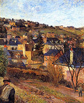 Blue Roofs Rouen 1884 By Paul Gauguin
