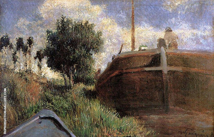 Blue Barge 1882 By Paul Gauguin