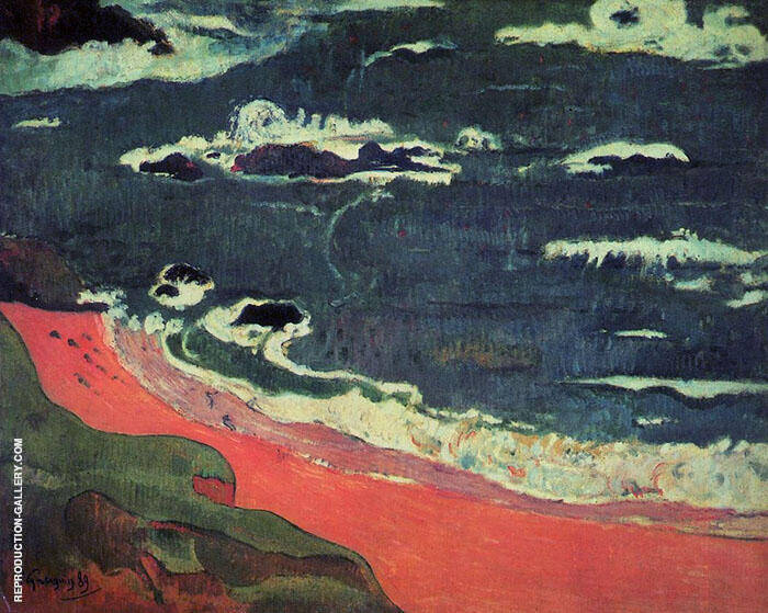 Beach at le Pouldu 1889 By Paul Gauguin