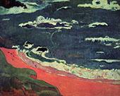 Beach at le Pouldu 1889 By Paul Gauguin