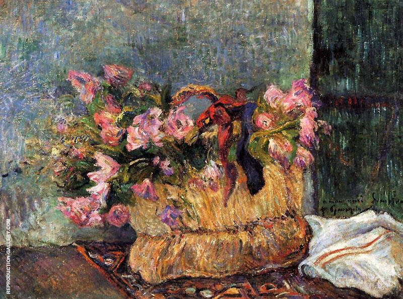 Basket of Flowers 1884 By Paul Gauguin