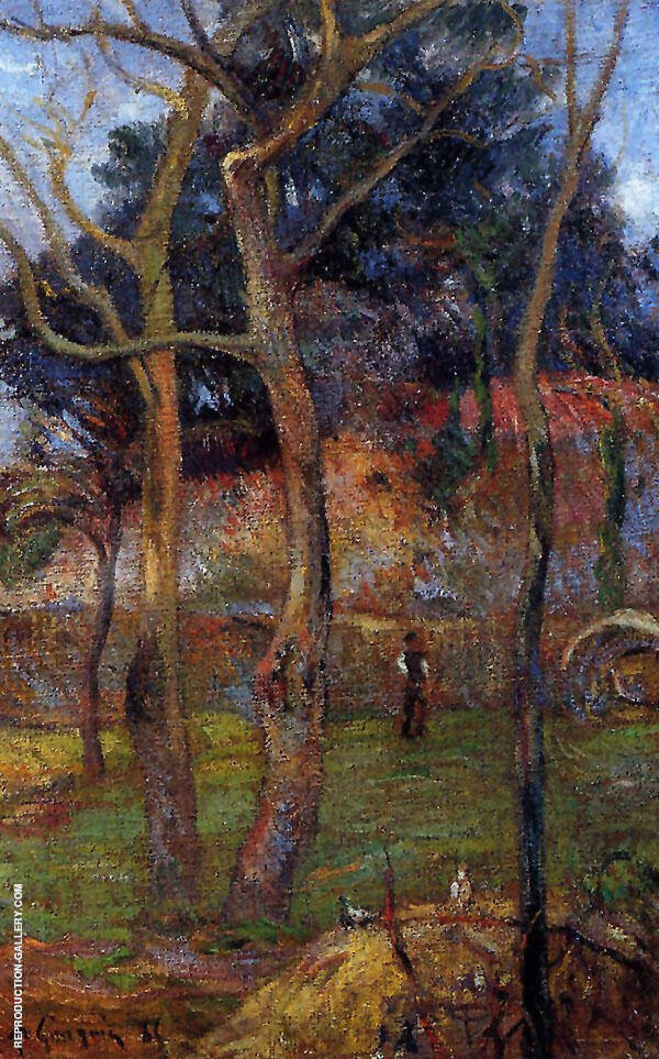 Bare Trees 1885 By Paul Gauguin