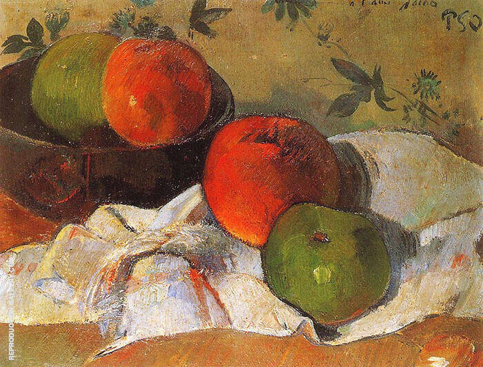 Apples and Bowl 1888 By Paul Gauguin