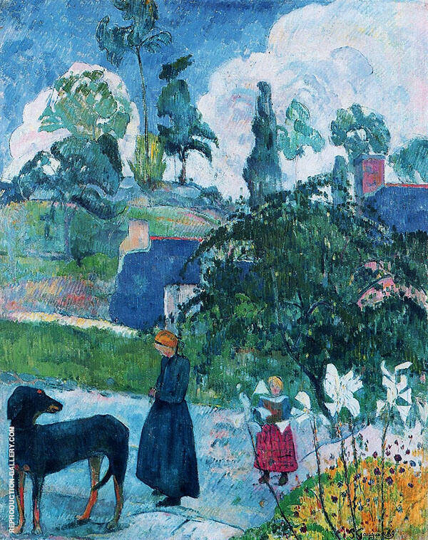 Among the Lilies 1889 By Paul Gauguin
