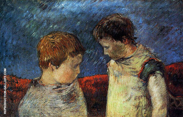 Aline Gauguin and One of Her Brothers 1883 By Paul Gauguin