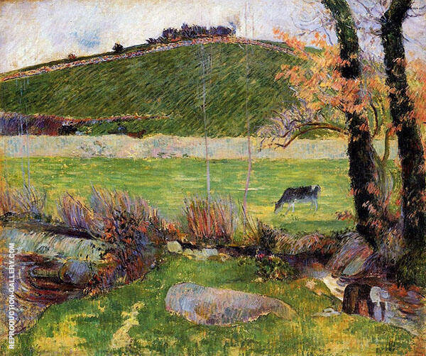 A Meadow on the Banks of the Aven 1888 By Paul Gauguin
