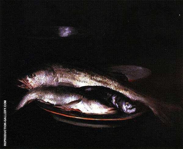 Grey and Silver Fish By William Merritt Chase