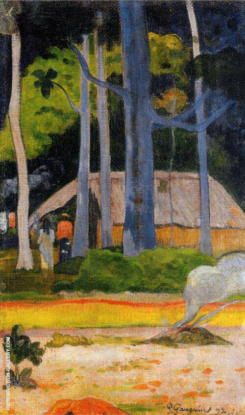 Cabin Under the Trees 1892 By Paul Gauguin