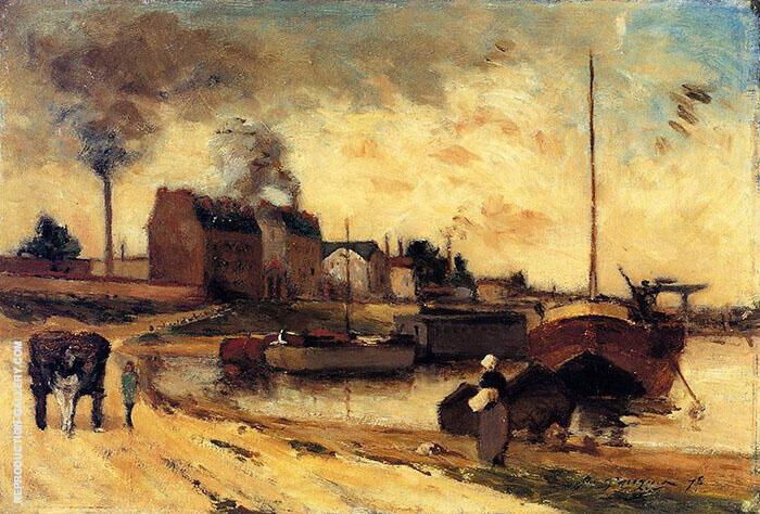 Cail Factories and Quai de Grenelle 1875 By Paul Gauguin