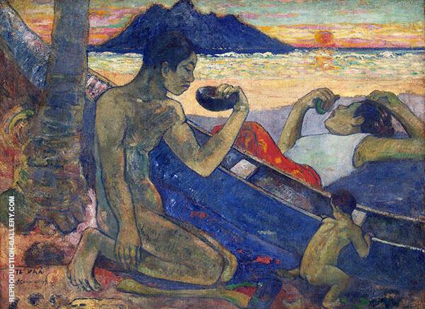 Canoe Tahitian Family Te Vaa 1896 By Paul Gauguin