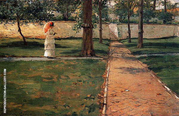 In Brooklyn Navy Yard By William Merritt Chase