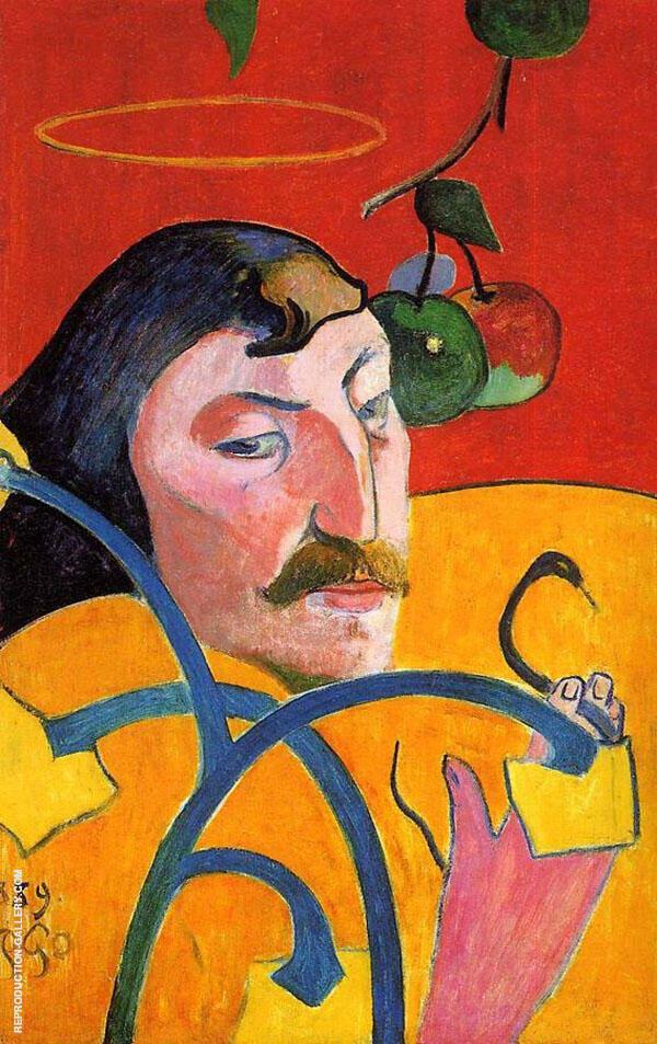 Caricature Self Portrait 1889 By Paul Gauguin