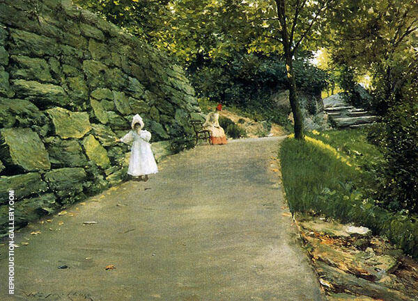 In The Park a by Path 1890 By William Merritt Chase