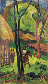 Cavalier Devant la Case 1902 By Paul Gauguin