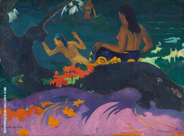 Fatata te Miti By the Sea 1892 Painting By Paul Gauguin