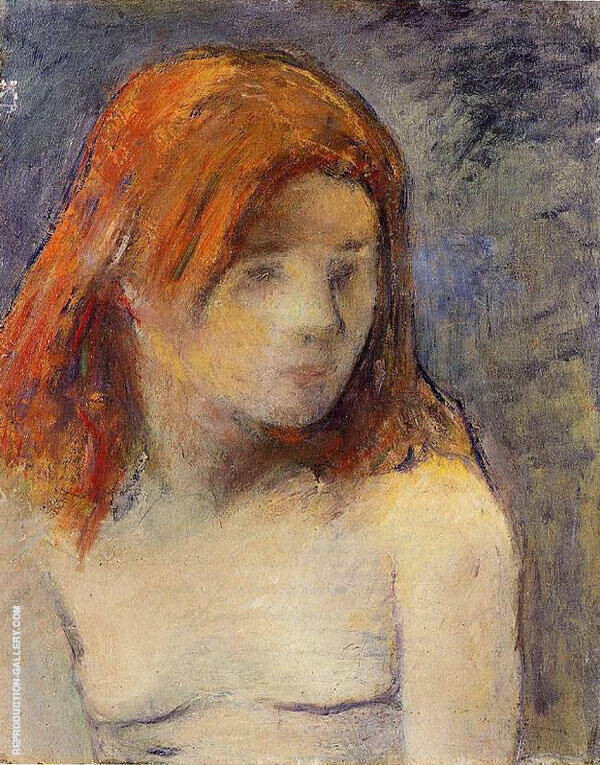 Bust of a Nude Girl 1884 By Paul Gauguin