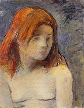 Bust of a Nude Girl 1884 By Paul Gauguin