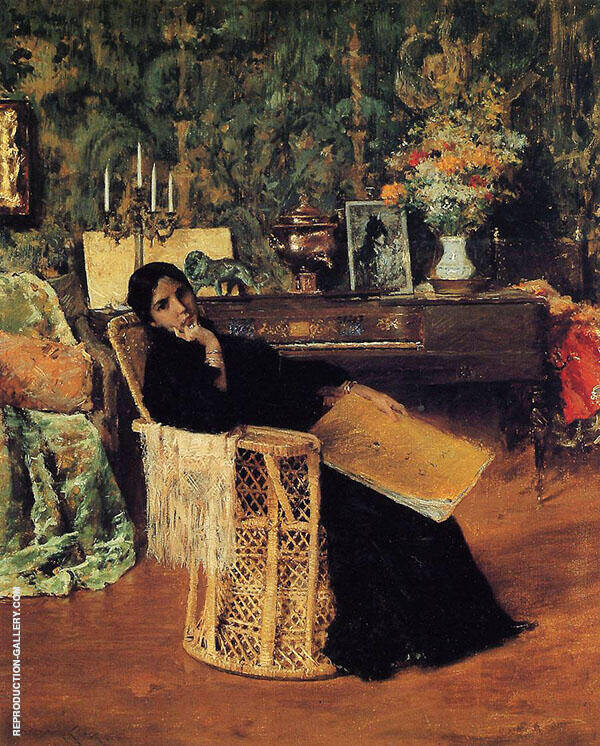 In The Studio By William Merritt Chase