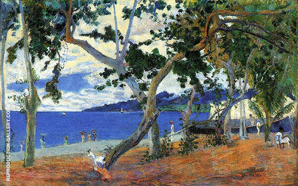 By the Seashore 1887 By Paul Gauguin
