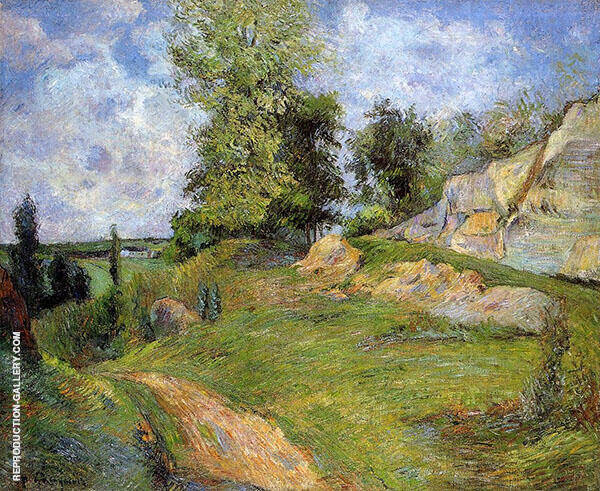 Chou Quarries at Pointoise 1882 By Paul Gauguin