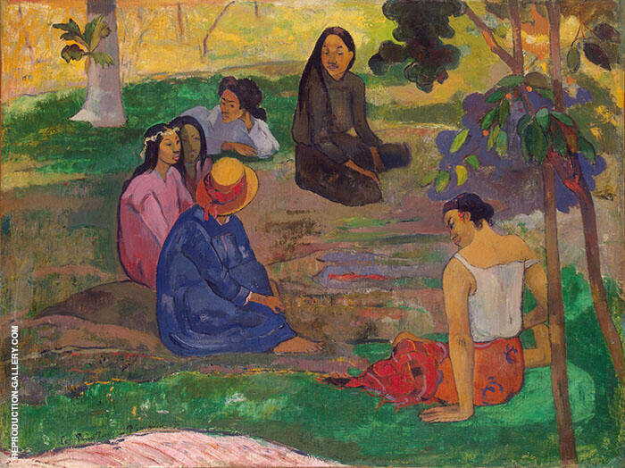 Les Parau Parau, Conversation 1891 By Paul Gauguin
