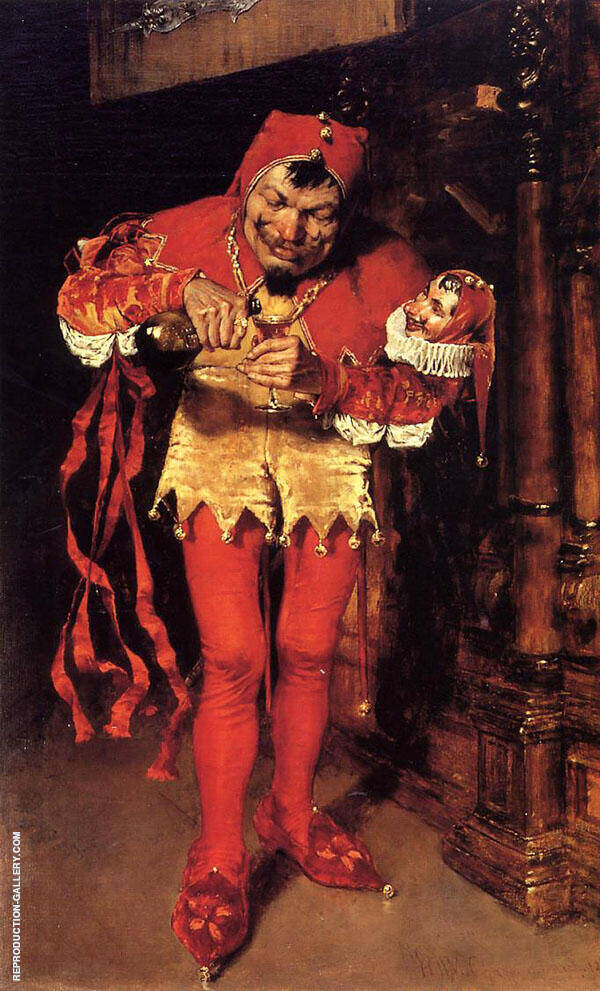 Keying Up The Court Jester 1875 By William Merritt Chase