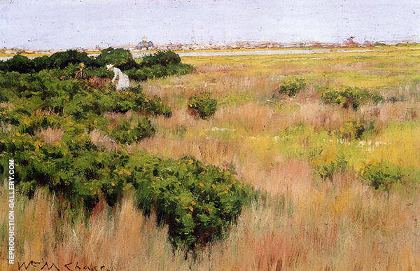 Landscape near Coney Island By William Merritt Chase