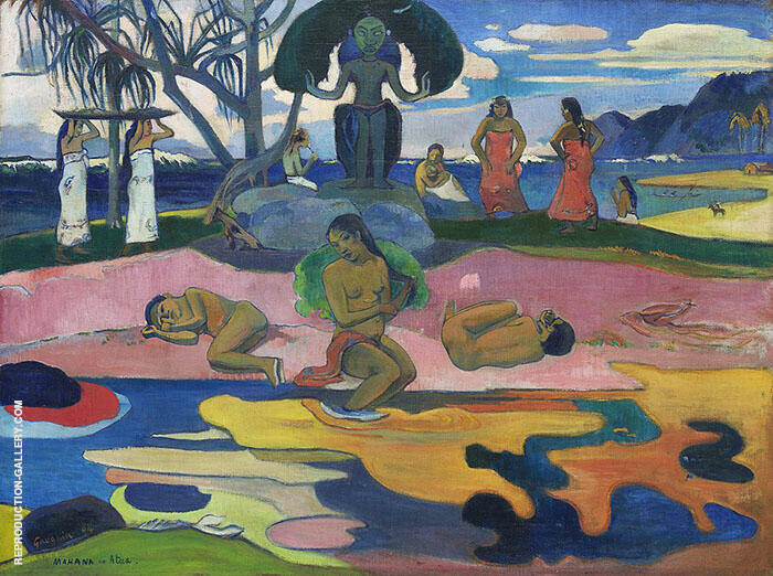 Day of the God, Mahana No Atua 1926 By Paul Gauguin