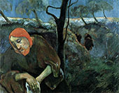 Christ in the Garden of Olives 1899 By Paul Gauguin