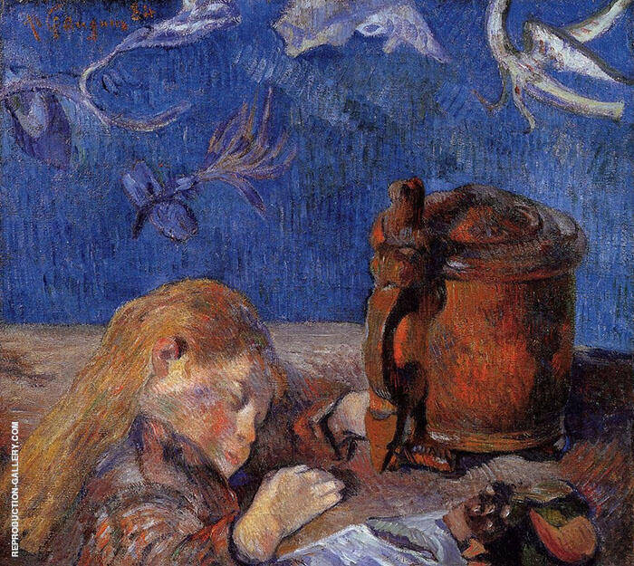 Clovis Asleep 1884 By Paul Gauguin