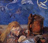 Clovis Asleep 1884 By Paul Gauguin