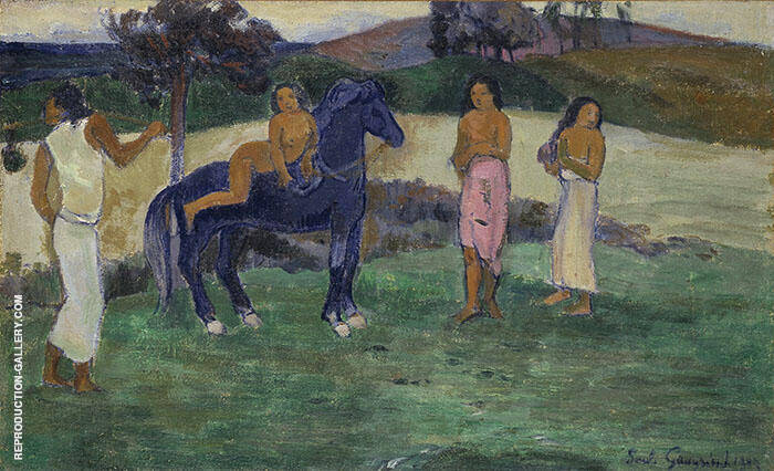 Composition with Figures in a Horse By Paul Gauguin