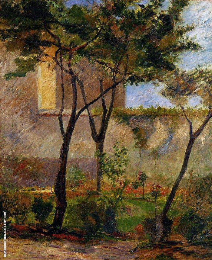 Corner of the Garden Rue Carcel 1881 By Paul Gauguin