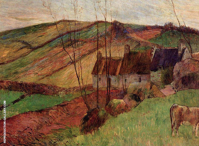 Cottages on the Mount Sainte Marguerite 1888 By Paul Gauguin