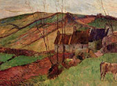 Cottages on the Mount Sainte Marguerite 1888 By Paul Gauguin