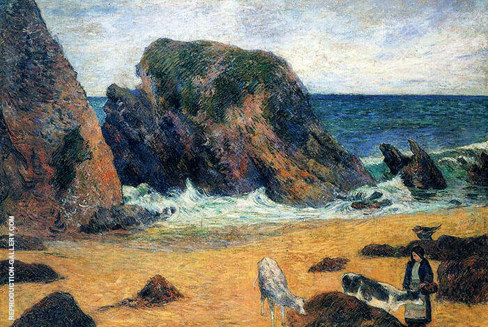Cows by the Sea 1886 Painting By Paul Gauguin - Reproduction Gallery