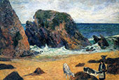 Cows by the Sea 1886 By Paul Gauguin