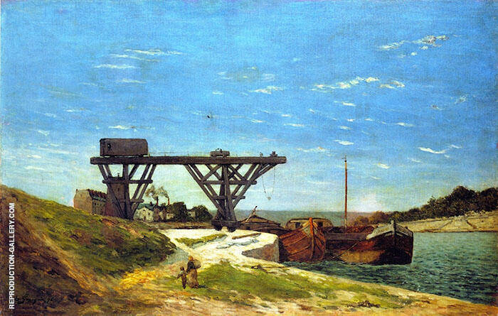 Crane on the Banks of the Seine 1875 By Paul Gauguin