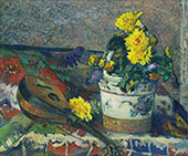 Dahlias and Mandolin 1883 By Paul Gauguin