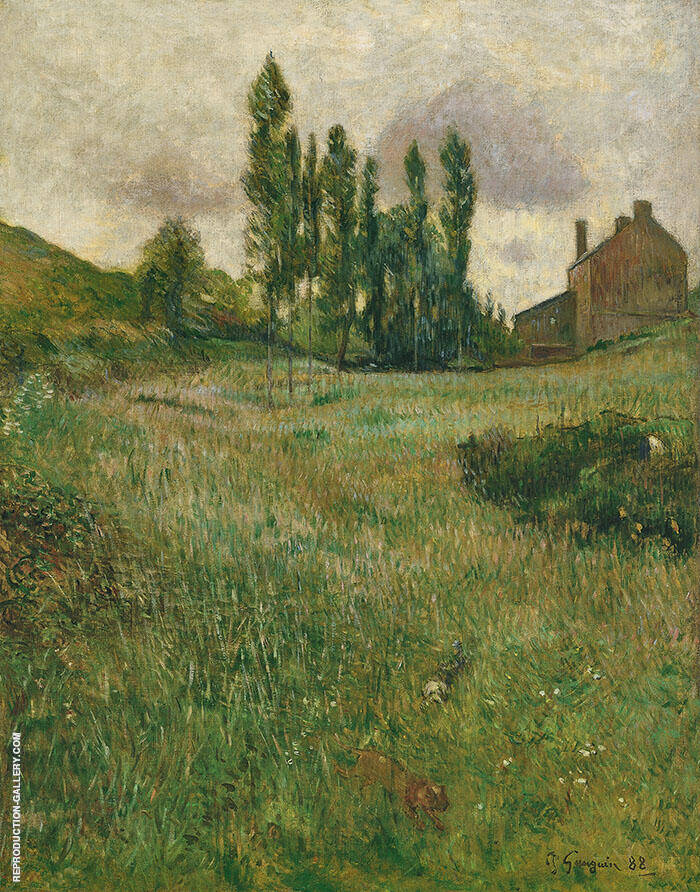 Dogs Running Through a Field 1888 By Paul Gauguin
