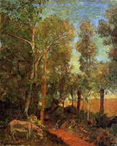Donkey by the Lane 1885 By Paul Gauguin