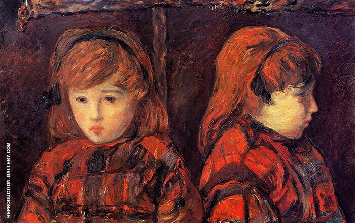 Double Portrait of a Young Girl Mademoiselle Lafuite 1883 By Paul Gauguin