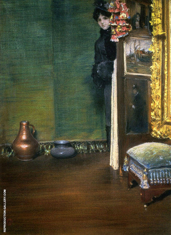 May I Come In Painting By William Merritt Chase - Reproduction Gallery